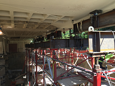 sp wireless compression load cells in washington library build