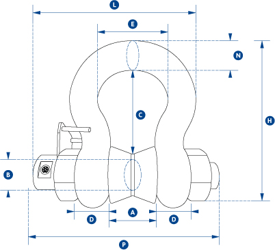 straightpoint shackle load cell dimensions