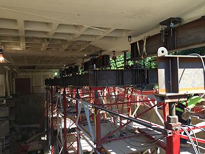 sp células de carga de compressão sem fio na construção da biblioteca de Washington