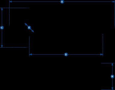 dimensions del bloc d'impacte puntual